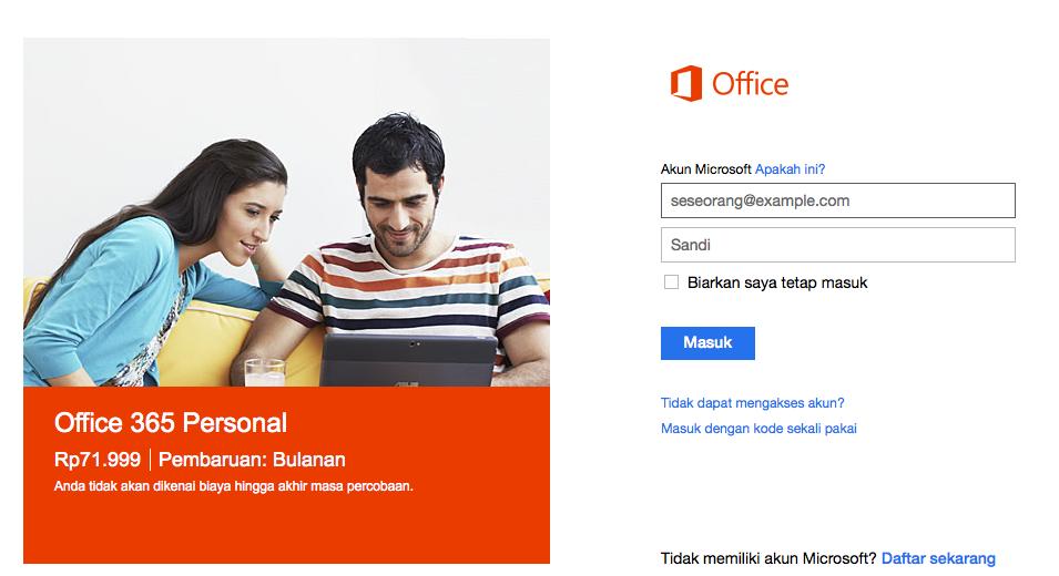 Coba Gratis Office 365